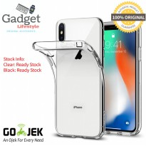 Original Spigen Liquid Crystal Case iPhone X - Clear / Black