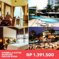 Bandung: Marbella Suites Bandung – Deluxe Room Incl. Breakfast for 2 persons