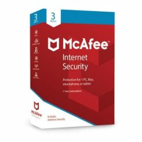 MCAFEE Internet Security Software Antivirus 2018-3 Devices