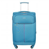 Navy Club Tas Koper Softcase 4 Roda 3862-22' Resleting Anti Tusuk - Biru