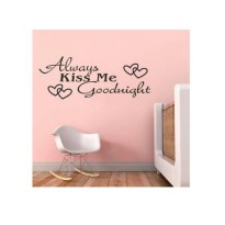 [globalbuy] Always Kiss Me Goodnight Love Wall Decals Quote Home Decorations Living Room S/3589268