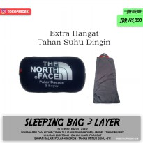 Sleeping Bag Triple 3 Layer Polar Dacron Parasut Extra Hangat Camping