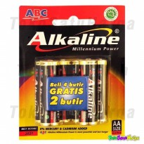 Termurah Baterai Abc Alkaline 6Pcs | Battery Abc Alkaline