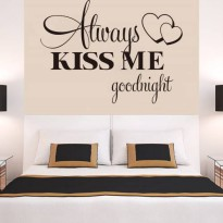 [globalbuy] Always Kiss Me Goodnight Wall Decal Quote Sticker Vinyl Art Lettering wall sti/3588835