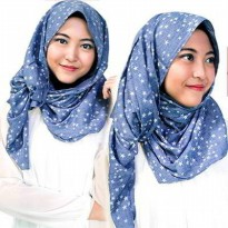 SCARF 01DCBFr Star Pattern Simple Design Blue