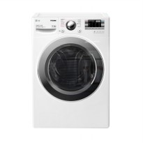 LG F1014NTGW Mesin Cuci Front Loading 14 Kg w/ Motion DD, Inverter Drive, & True Steam-Allergy Care