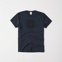 Termurah Abercrombie & Fitch Mens Logo Graphic Tee