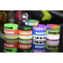 Vape Silicone Rubber Band Random Logo 18mm 1PCS - Multi-Color