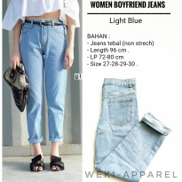 WOMEN JEANS BOYFRIEND LIGHT BLUE