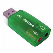 Termurah Sound Card Eksternal Usb Dsp 5.1 Mono Channel Beli 1 Gratis 1