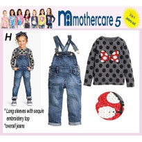 Setelan 3in1 Mothercare 5H - Minnie Overall (BABY)