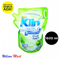 SO KLIN LANTAI HIJAU FRUITY APPLE 1600 ML 1,6 LITER REFILL
