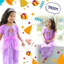 PJCA59204 - SleepDress Pipo Carter Sophia Purple Kombinasi Tutu