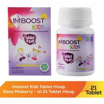 imboost kids tablet hisap chew isi 21 tablet multivitamin anak rasa mix berry