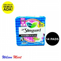 LAURIER SUPER SLIMGUARD NORMAL TO HEAVY NIGHT WING 30 CM 14 PADS