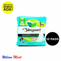 LAURIER SUPER SLIMGUARD NORMAL TO HEAVY DAY WING 22,5 CM 10 PADS