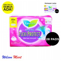 LAURIER ACTIVE DAY FLEXI PROTECT SLIM 22 CM NON WING ISI 28 PADS