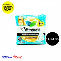 LAURIER SUPER SLIMGUARD WITH SAFETY GATHERS NORMAL TO HEAVY DAY WING 22,5 CM 14 PADS