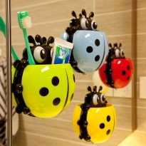 Tempat Sikat Gigi Kumbang – Lady Bug Toothbrush Holder