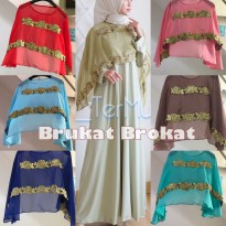Brukat Cape Chiffon pesta party murah wanita