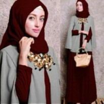 hijab cape marun, bhn spandek 3in1 ready