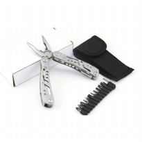 Multifunctional EDC Plier Survival Tool Stainless Steel - MPA22S - Silver