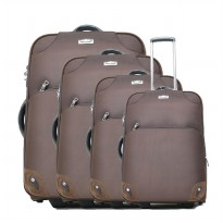 Travel Mite Cabin Trolley 9180 Set 15'+18'+19'+22' - Cokelat