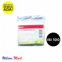 PIGEON COTTON SWAB SMALL TIP ISI 100 PCS COTTON BUDS