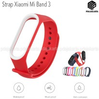 Strap Silicone Xiaomi Mi Band 3 - Red White