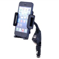 Smartphone Holder Mobil Cigarette Plug - CH410 - Black