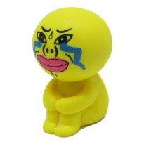 Sucker Stand Cartoon Style Holder for Smartphone - Yellow