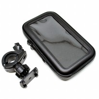 Universal Bike Mount with Waterproof Case for Smartphone 5.5-6 Inch - Black