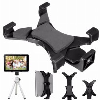 Universal Tablet Holder Mount 1/4 Screw Bracket for Tripod - Black