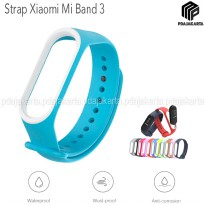 Strap Silicone Xiaomi Mi Band 3 - SkyBlue White
