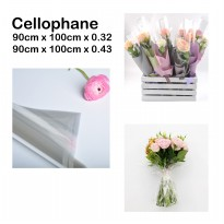 Cellophane 90cmx100cm - bungkus parsel - flower wrapping - parsel - hampers
