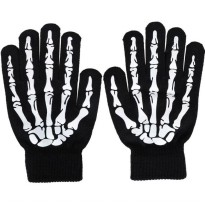 Sarung Tangan Touch Glove Skull Skeleton Design for Smartphone - Black