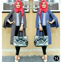 Spesial  6469 outer cape / blazer cape / cardigan wanit