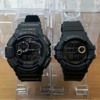 Jam Tangan Couple Digitec Original Co2028/Ce2051 Black Gold