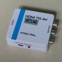 [NETLINE] HA1308S HDMI to AV Converter (PAL/NTSC) Mini Converter