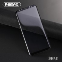 REMAX Crystal Glass 3D 9H Tempered Glass With TPU Case for Samsung Galaxy S8 Plus - Black