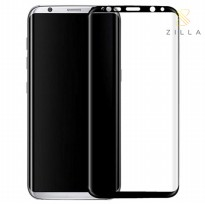 Zilla 3D Premium Tempered Glass Curved Edge 9H 0.26mm for Samsung Galaxy S8 Plus - Black