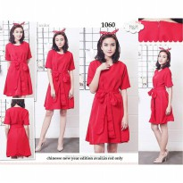 Chiara Red Ribbon Dress