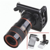 Termurah Mobile Phone Telescope Lens 8X Optical Zoom With Universal Clamp Black