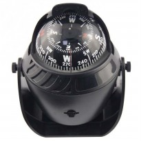 Ball Shaped Marine Compass Magnetic Declanation Correction / Kompas - Black
