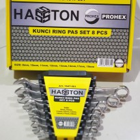 KUNCI RING PAS SET 8 PCS HASTON PROHEX COMBINATION WRENCH