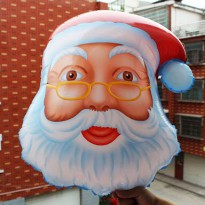 Balon Foil Kepala Santa Cartoon