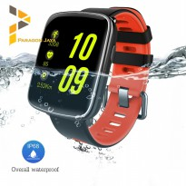DISKON Smart Watch GV68 - Sport Smartwatch GV 68 Water Resistant Red