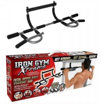 Iron Gym Extreme Alat Pull Up Pintu - Black