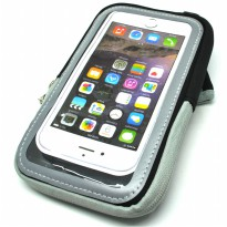 Mesh Cloth Material Sports Armband Pocket Case L Size - ZE-AD500 - Black