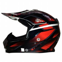 Snail Helm Full Face Motocross MX315 Motif- Special Price (HLM6089)